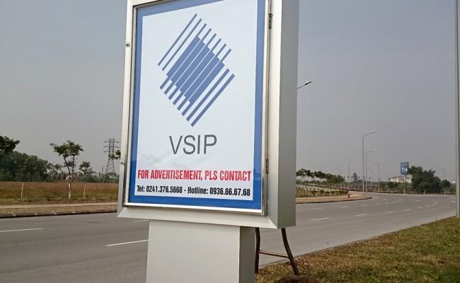 Biển cột đèn VSIP