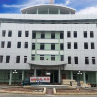 Mặt dựng Alu đài truyền hình Bắc Giang